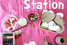 Ystävänpäiväaskartelua / Valentine's Day crafts and activities