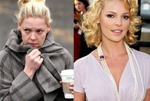 Celebrities without make up / Reality still exits in their life. Human as the rest of us.