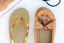 sapatos croché