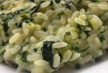 riso spinaci  e robiola