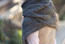 Knitting shawls, scarves, cowls
