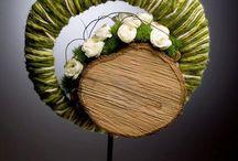Kunst wol en bloemen