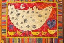 hooked rugs / by Carol Hewitt