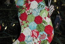 Seracraft: Stylish Christmas stockings to make. / Excited to make some cute new Christmas stockings, but I wanted to find some variations for inspiration.  Also including fabric that I love. / by Sarah M
