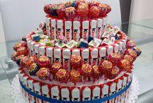 torta di caramelle e cioccolata