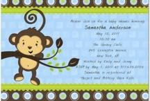 monkey theme invitations / by Fernando Junior