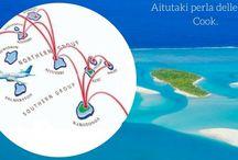 Isole Cook / Aitutaki, il paradiso perfetto non può aspettare! Un incantevole eden è Aitutaki isolata e romantica, una delle più belle lagune del mondo, che ospita circa 1800 persone con solo 240 km, a 45 minuti di volo da Rarotonga.