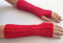 Para as mãos / tricô feito à mão para as mãos