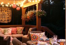 Outdoor dining and sitting