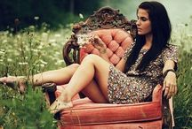 Posing on a Chair / by Lost and Found Vintage Rentals - Dayton, Ohio