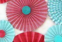 : poetic☚Folk : / Bibbity Bobbity Boos of Everything Aqua/Turquoise & Red Combo.