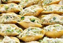 chicken & broccoli shells