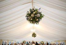 Blue and White Wedding Flowers / Elegant wedding in Northamptonshire.