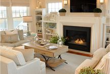 fireplaces, mantels, builtins