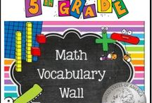 Math Word Wall (5th Grade) / Fifth Grade Math Word Wall (Common Core) - Mastering math vocabulary is essential! Help your students master the math vocabulary terms from the Common Core Standards with this 199 page printable math word wall.
