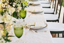 Mesas boda inspiración verde