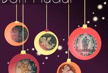 Nadalenques hand made #ColleccioMarull / Cada any et felicitem els nadals amb una postal ben diferent. Aquest és el resum de les creacions que anem fent..