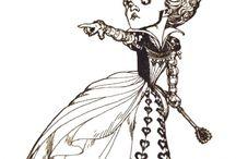 Tim Burton - Alice in wonderland. / Costume design project 2