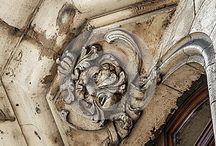 Gargoyle and reliefs