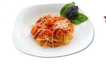 Рецепты: макароны с рыбой, морепродуктами / Пошаговое приготовления блюд из макарон с рыбой, морепродуктами и средиземноморскими соусами