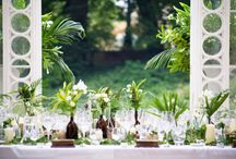 Wedding green palette / Inspiration for wedding with the colour of the 2017: greenery