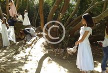 wedding photoshooting in the  forest for big wedding magasin