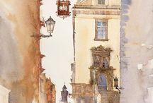 Watercolor Art / Alles met aquarelle