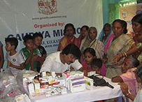 Gaudiya Math Social Activities (Medical) / Gaudiya Mission Organises Medical Camp,Charitable Dispenceries,And Mobile Distribution of Medicine