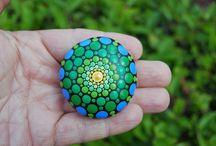 Mandala fridge stones