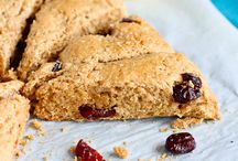 lemon and cherry wheat scones