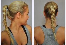 Gym Time / Just because you're headed to the gym doesn't mean your hair can't look great! Try on of these gym worthy hair styles for your next workout!