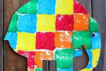Book activities - Elmer / by Sarah Werzner