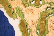 Golf Course Wooden Charts / Nautical North can create a 3D wooden chart of any golf course in the world.
