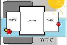 Scrapbook Sayfa Şablonları