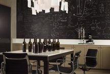 blackboard walls