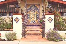 Courtyard and front gates/doors