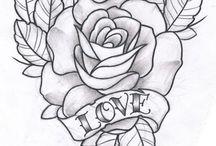 Rosa tattoo e desenhos