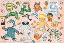 Edita paperinuket,  paper dolls, klippdockor