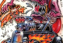 dibujos coches y monstruos