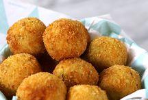 bolinhos de puré de batatas com queijo