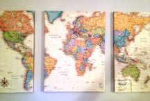 CREATIVE: Maps & Globes / Repurposing maps and globes. / by Blue Velvet Moon Weddings & Events
