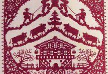 Montagne-mountain-point de croix-scross stich / mes créations sur Blog : http://broderiemimie44.canalblog.com/ point de croix - cross stitch - broderie - embroidery