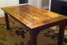 Wooden Table Backyard