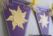 Tangled Theme Party / My daughter absolutely loves Rapunzel and the movie Tangled.  So for her 5th birthday, I'm going to try and put together a Tangled theme party.  This is a collection of ideas that I have found online to help me. / by Sara Clark