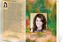 Creative Memorials with Funeral Program Templates / A beautiful collection of downloadable DIY printable creative memorial program templates for pamphlets, bulletins, order of service templates, announcements, obituary programs compatible with Microsoft Word, Publisher, and Apple iWork Pages. Huge assortment of designs and themes.  So much more funeral programs at www.FuneralProgram-Site.com and www.CelebrationTemplates.com