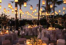 Outdoor weddings reception
