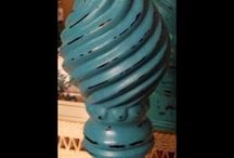 Chalk Paint Projects / My first chalk painted/distressed look project 10/27 (Candle Holder) / by Barbara West