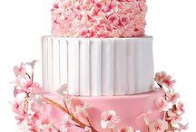Blossom wedding cakes