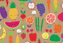 fruit and veg patterns