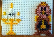 Beads/Perler/Hama Beauty and the beast